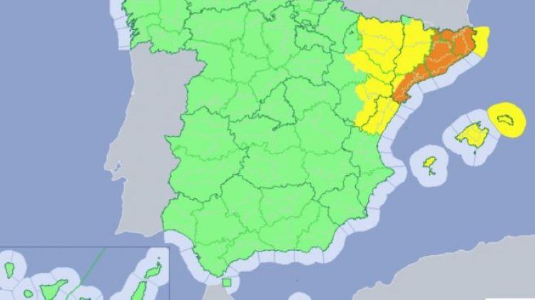 Cataluña activa una alerta por inundaciones (España)