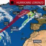 El huracán Lorenzo impactará en Azores