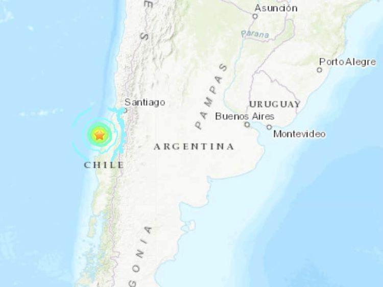 Fuerte terremoto de 6,8 grados en Maule (Chile)