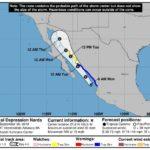 """Tormenta tropical """"Narda"""" en Mexico"""