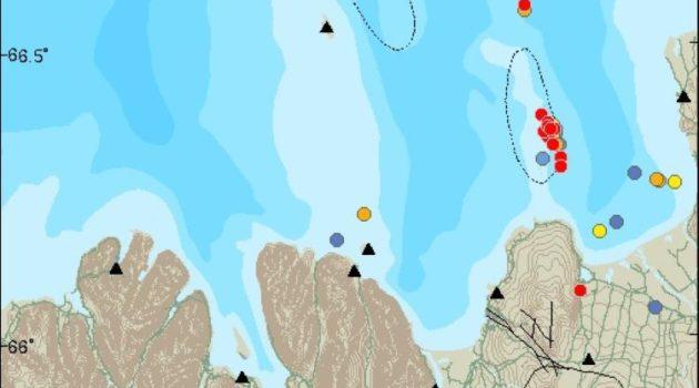 Enjambre de seísmos en la Zona de Fractura de Tjörnes, en Islandia
