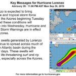 Las Azores preocupadas por el huracán Lorenzo
