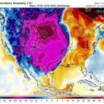 potente masa de aire polar se desplaza hacia Estados Unidos, México y el Golfo de México