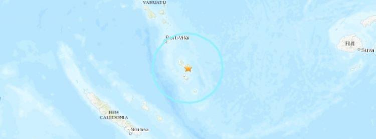 Terremoto de 6,4 grados registrado en Vanuatu a una profundidad media