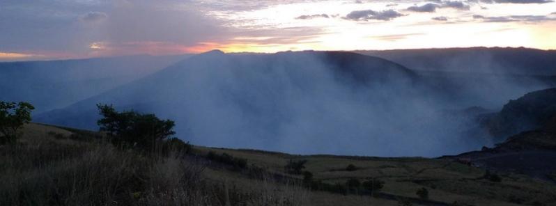 El volcán Masaya lanza cenizas volcánicas hacia la municipalidad de Ticuantepe (Nicaragua)