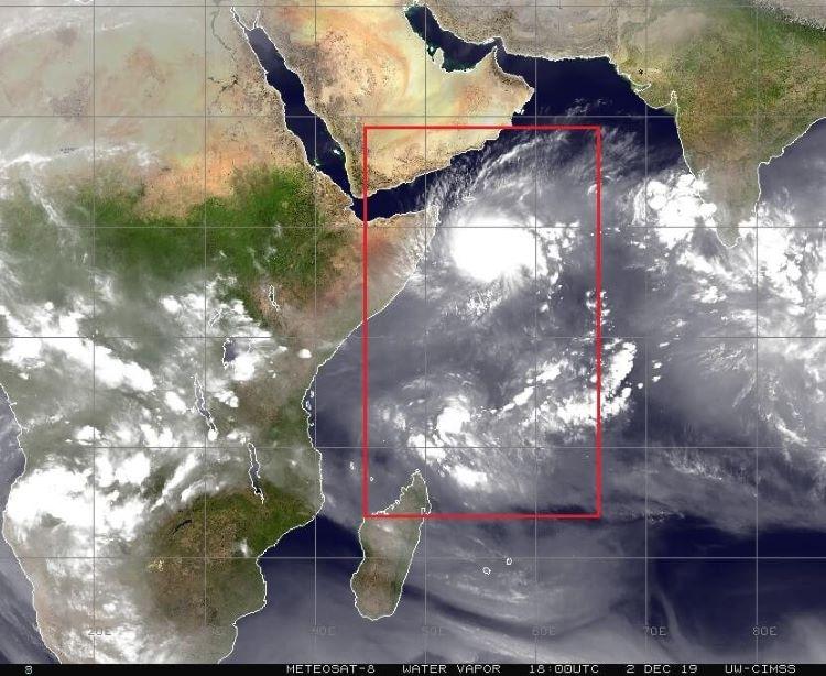 Anomalía climática. Formación inusual de ciclones tropicales gemelos a ambos lados del ecuador