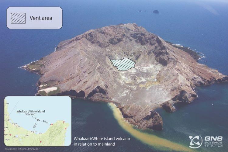 Nuevas erupciones posibles en el volcán de isla White (Nueva Zelanda)