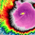 """El Tifón """"Kammuri"""" produce la temperatura más fría de la nube más alta"""