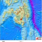 Potente terremoto, de 6.9 grados en Mindanao (Filipinas).