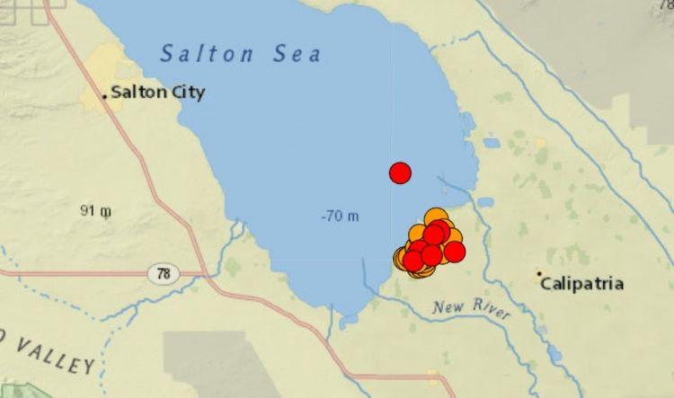 ¡Atención! Importante enjambre sísmico cerca del mar de Saltón, en el sur de California, y norte de México