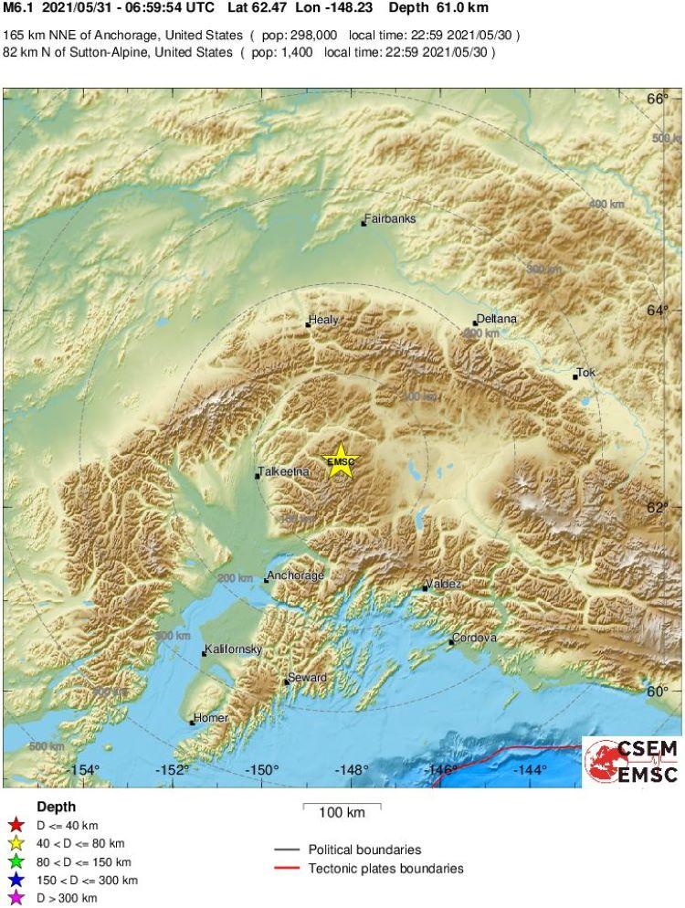 Terremotos registrados en el mundo desde el 16 al 31 de mayo de 2021, superiores a 5,5 grados