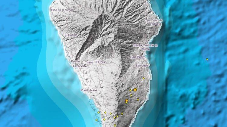 Enjambre sísmico en La Palma, Canarias, reactiva preocupación de un mega-tsunami (España)