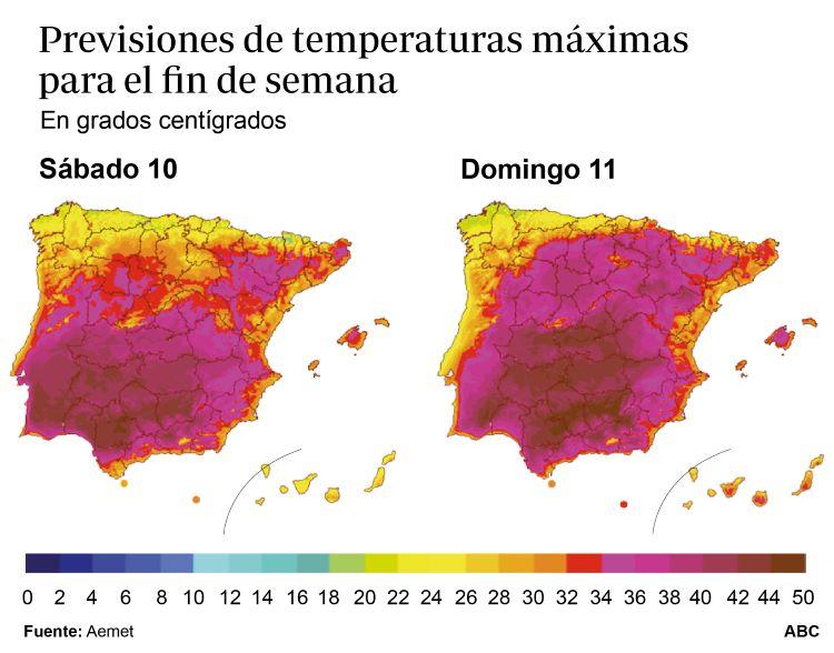 Extremar las precauciones ante temperaturas máximas extremas (España)