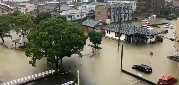 Alerta máxima en Kyushu por lluvias torrenciales (Japón)