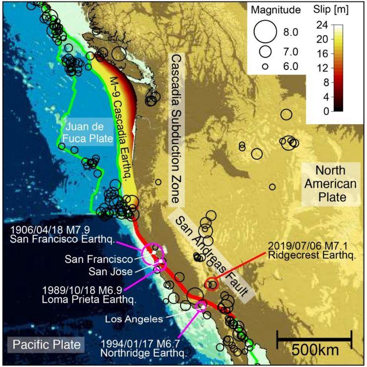 Terremoto de 5,1 grados frente a Petrolia, en California, justo donde la Zona de Subducción de Cascadia se encuentra con la Falla de San Andrés