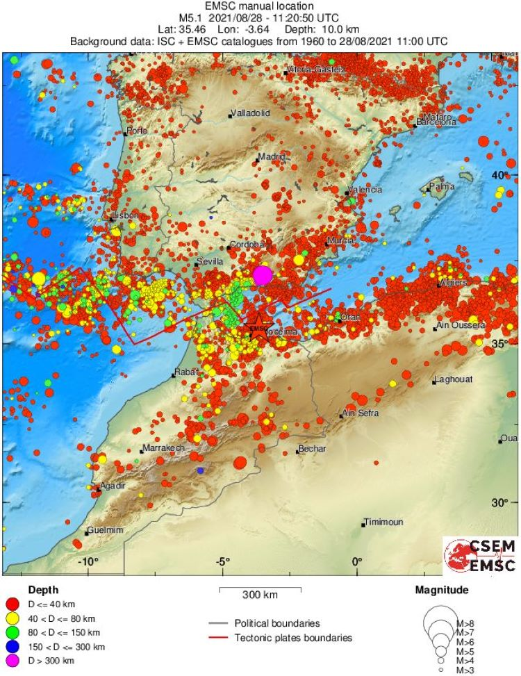 Terremoto de 5,1 grados frente a la costa de Marruecos, sentido en Málaga (España), despierta temor a un posible tsunami