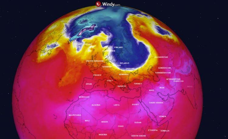 Primera ola de frío del Ártico hacia el Norte de Europa este fin de semana