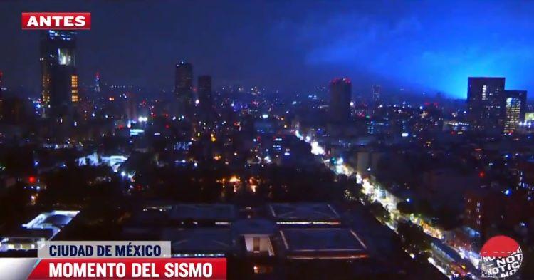 ¿Qué son las luces que se han visto en el cielo durante el terremoto de México?