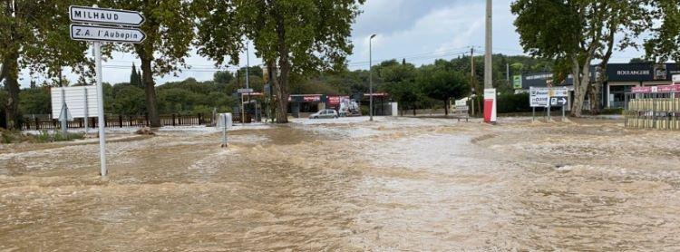 Las tormentas descargan 2 meses de lluvias en solo 3 horas, en Gard (Francia)